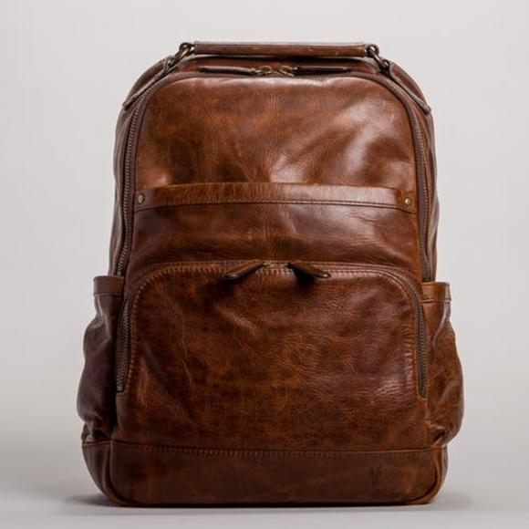 29dd74ca66bc Frye Handbags - Frye Logan backpack cognac rugged leather